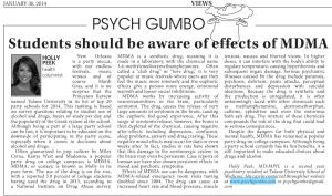 Students should be aware of effects of MDMA « Psych Gumbo